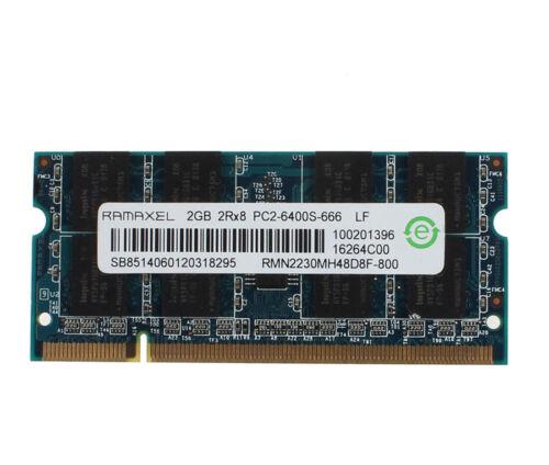 Ramaxel 2GB 2RX8 PC2-6400S 200Pin DDR2 800Mhz CL6 RAM Memory SODIMM Laptop #DD