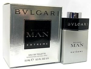 BVLGARI MAN EXTREME EAU DE TOILETTE MINI SPRAY 0.5 Oz   15 ml BRAND ... 41e9c6d3ad