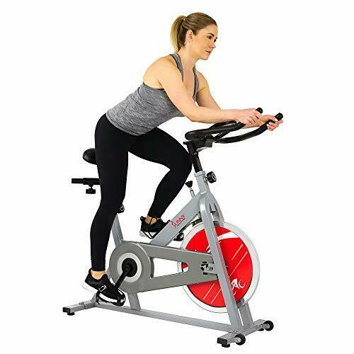 Sunny Health & Fitness Stationary Indoor Cycling Bike with 30 LB (Silver) bike cycling fitness health indoor stationary sunny with