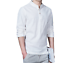 Fashion-Men-Flax-Long-Sleeve-Slim-Fit-Shirt-Casual-Mandarin-Collar-Top-Tee-Shirt thumbnail 3