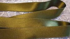 "5/8"" WIDE DOUBLE FACE SILK SATIN RIBBON - DK. MOSS GREEN #109- BY THE YARD"