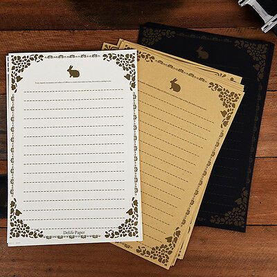 8Pcs/Set Vintage Retro Lace Up Letter Writing Paper Classic Stationery Kids Gift