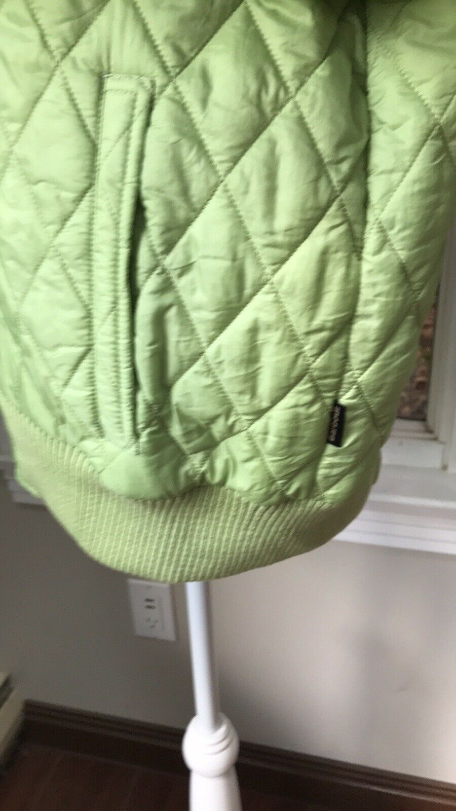 Rare Barbour Green Quilted Bomber Puffer Jacket P… - image 6