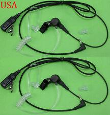 2X FBI Style Headset/Earpiece Mic for Motorola Walkie Talkie Talkabout Radio