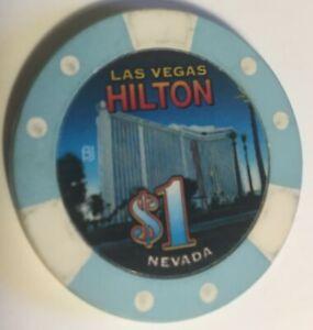 LAS VEGAS HILTON   CASINO $1    CASINO  CHIP