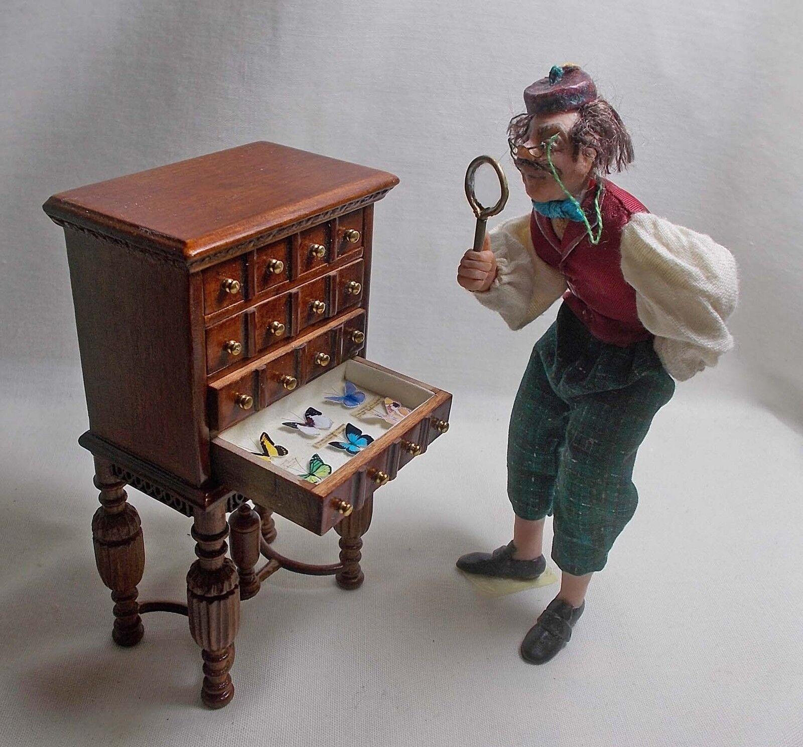 La maison de poupées miniature BESPAQ BESPAQ BESPAQ 4 tiroirs petit en bois Lepidoptera/COLLECTOR e17e74