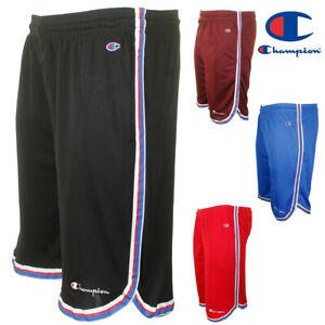 Champion-Men-039-s-Athletic-Mesh-Pocket-Striped-Gym-Basketball-Shorts-9-034