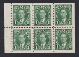 CANADA-1937-MINT-NH-BOOKLET-PANE-OF-6-231b-R