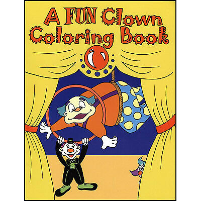 Clown Magic Trick close-up 3 Way Coloring Book