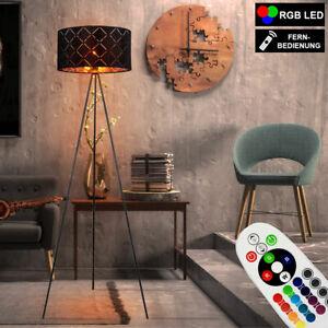 RGB LED Steh Stand Lampe Gäste Schlaf Zimmer Decken Fluter Lese Leuchte DIMMER
