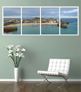 ST-IVES-CORNWALL-GIANT-WINDOW-VIEW-PRINTED-POSTER