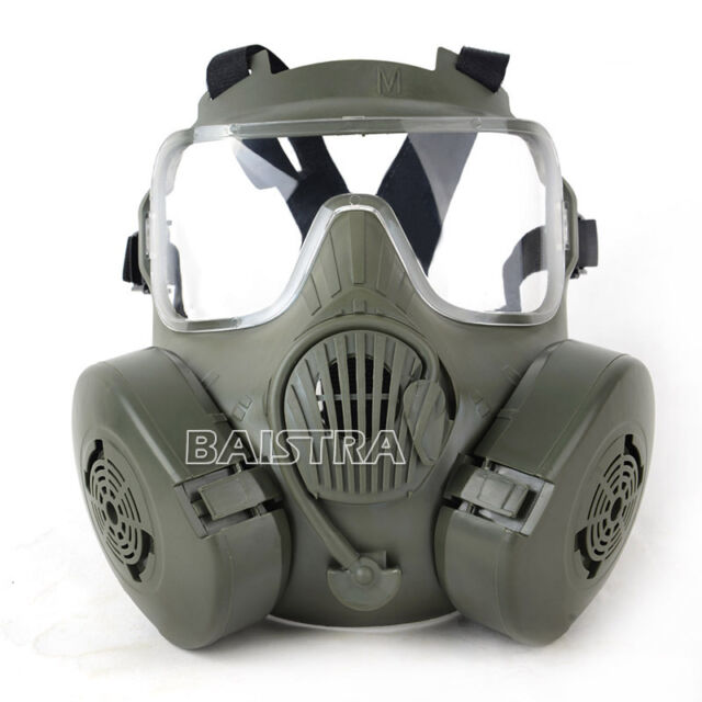 NEW Green Super Tactical Airsoft Painball Full Face Skull Gas Mask M50