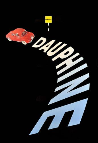 Dauphine Renault Auto Automobile Car Art Ad Poster Print