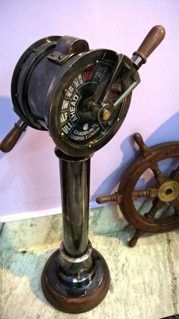 Battleship Engine Room: Ship Telegraph Nautical Engine Room Antique Collectible
