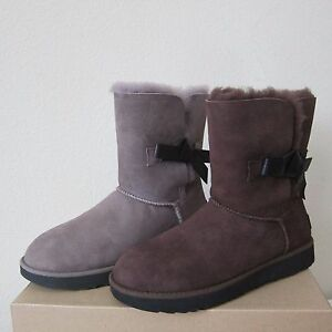 Image is loading UGG-Classic-Knot-Short-Boots-Sheepskin-Shearling-Boots-