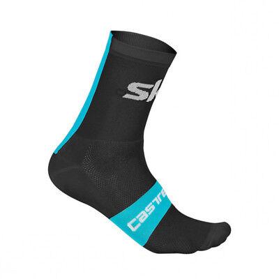 Castelli PODIO DOPPIO 13 cm Pro Height Cycling Socks BLACK//RED One Pair