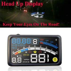 HO-5-5-034-4E-Digital-Car-GPS-HUD-Head-Up-Display-OBD2-OBDII-Speedometer-Warning-A