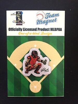 #1 Fan Fav Unterscheidungskraft FüR Seine Traditionellen Eigenschaften Fanartikel Baseball & Softball St Louis Cardinals Yadier Molina Reversnadel & Magnet-collectible