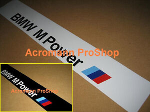 53 Quot Bmw M Power Windshield Windscreen Sun Strip Visor
