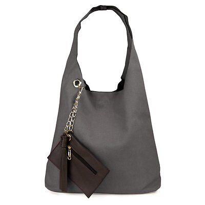 Canvas, Damen, Handtasche, Beuteltasche, Schultertasche, einfarbig ♥♥