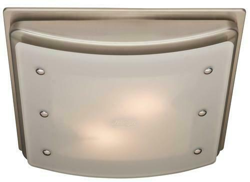 """9.7/"""" Decorative 100 CFM Ceiling Exhaust Bathroom Fan Light Frosted Glass Shade"""