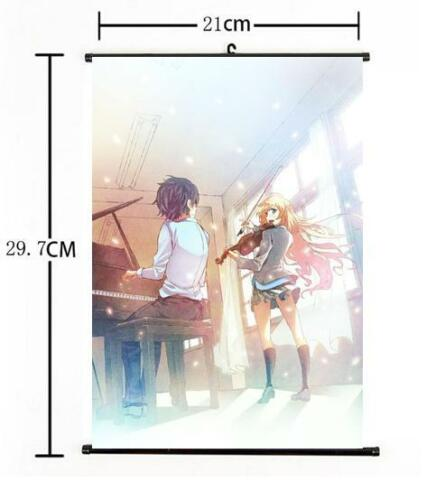 "Hot Japan Anime Your Lie in April Kaori Poster Wall Scroll Home Decor 8/""×12/"" 05"