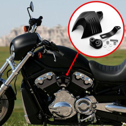 Black Aluminum Twin Cowbell V-Shield Horn Cover for 1992-up Harley Davidson zu