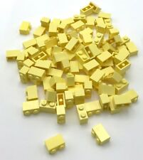 10 LEGO 2x8 DOT BRIGHT YELLOW PLATES C100