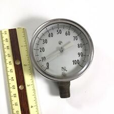Vintage Ashcroft 1850 0 100 Psi Pressure Gauge Stainless Made In Usa Read