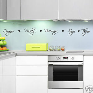 Image Is Loading Herb Names Kitchen Wall Stickers Kitchen Wall Sticker  Part 94