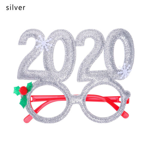 2020 New Year Christmas Plastic Party Supplies Decor Kids Toy Glasses Frame ❤ UK