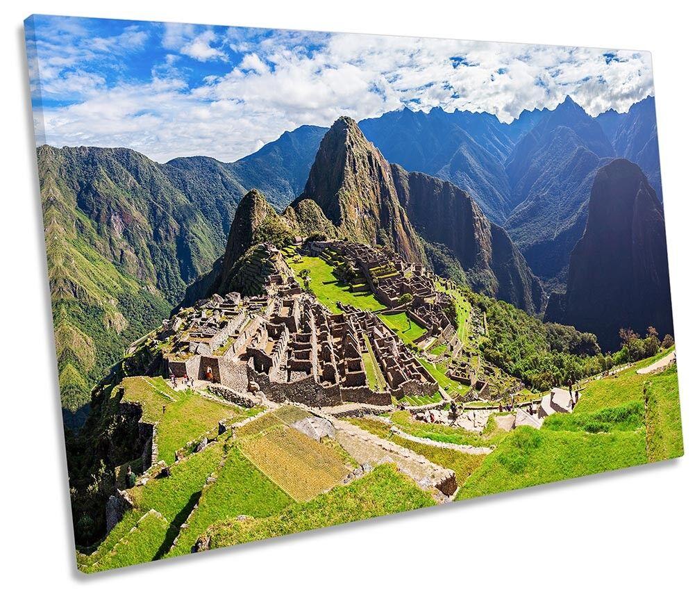 MACHU MACHU MACHU PICCHU PERU incorniciato Tela Singola Stampa Wall Art 4c0bb7