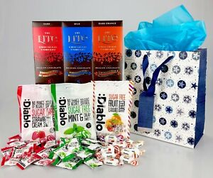 Belgian SWEET /& CHOCOLATE Gift Hamper Diabetic No Added Sugar Birthday Fathers