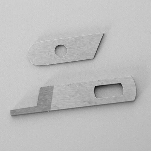 2Pcs Overlocker obere untere Messerklinge für SÄNGER Nähmaschine