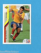 Figurina/CARDS-UPPER DECK 94 -WC USA 94- n.45- PEREZ - COLOMBIA