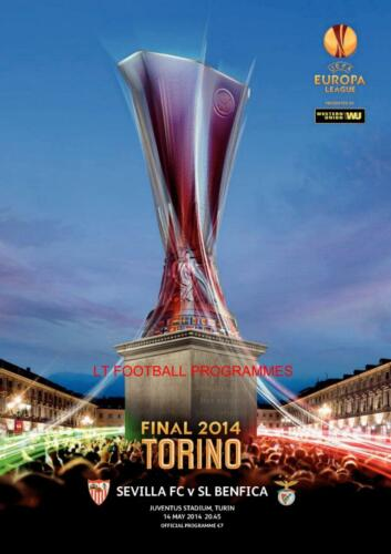 BENFICA v SEVILLA 2014 UEFA EUROPA LEAGUE FINAL OFFICIAL PROGRAMME
