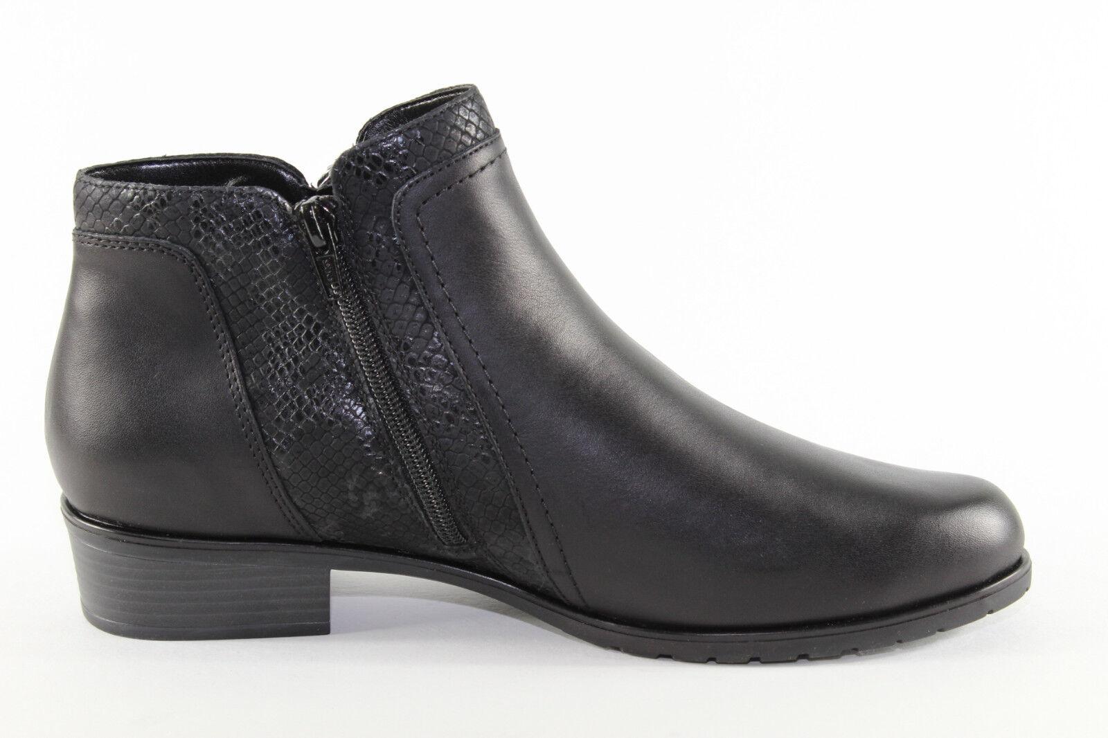 Remonte D6870-01, schwarze Stiefelette Stiefelette schwarze mit Warmfutter, Damenschuhe Übergröße ca7b22