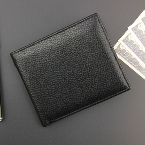 Men Slim Leather Coin Zipper Pocket Wallet Bifold Credit ID Card Holder Purse CN