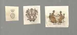 N-34-Lot-de-3-ex-libris-epoque-19eme-MONOGRAMME-COURONNE
