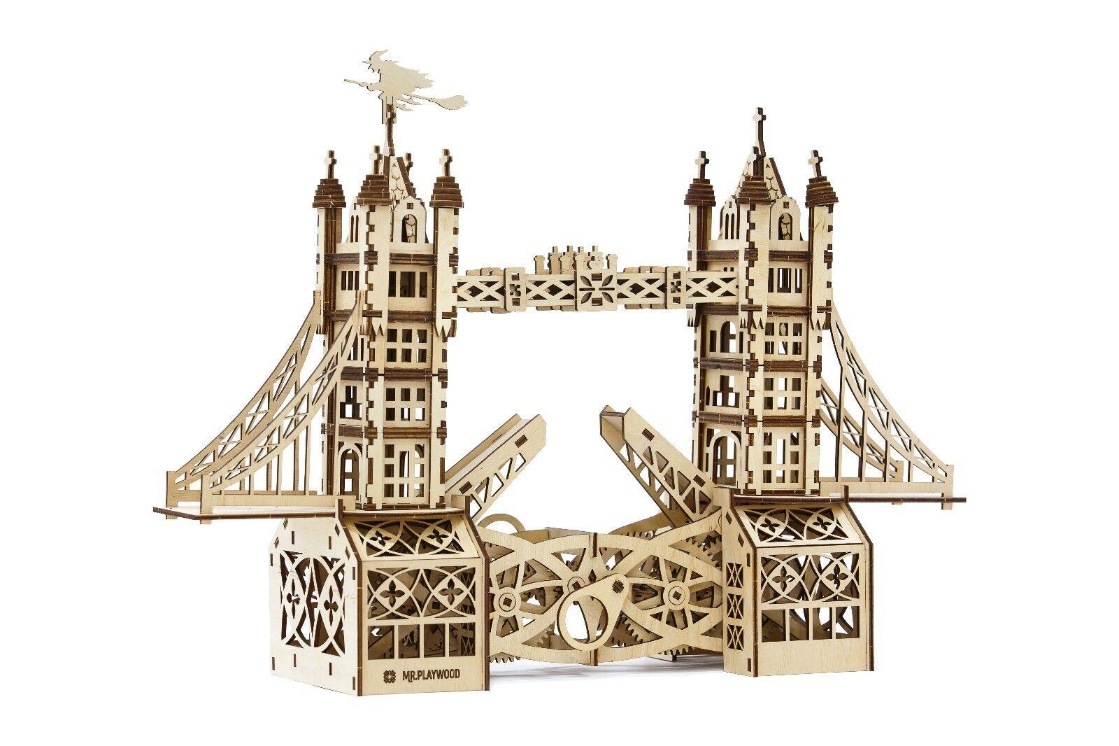 TOWER BRIDGE - MrPLAYWOOD - 3D Mechanical Wooden Model & Puzzle