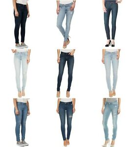 ae97ceb4 Levis 711 Skinny Jeans Womens Mid Rise Blue Wash 5 Pocket Zip Fly ...