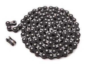 KHE-BMX-Fixie-Chaine-1-2-034-x-1-8-034-Noir-112-Maillons-a-Gauche-Seulement-385g