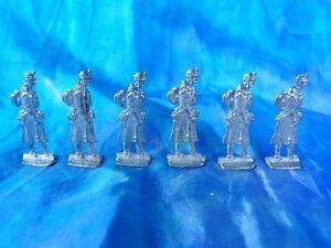 Plats-d-039-etain-flat-tin-zinnfiguren-6-soldats-francais-guerre-de-1870
