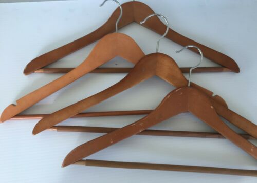 "Lot Light//Dark Wood Dress Hangers 17/"" Long C1"