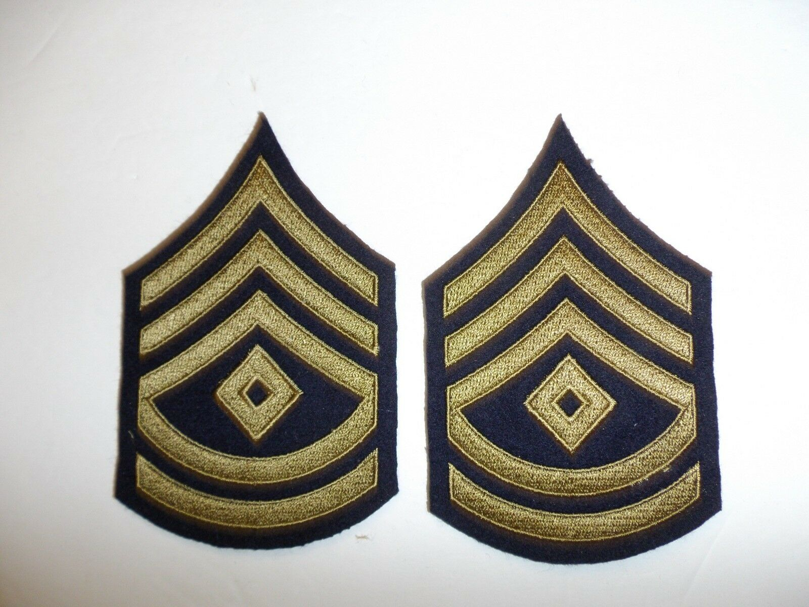 1063p WW2 US Army /& Air Force Technician 4 Grade fourth Chevrons Khaki pair R1B