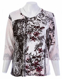 CHICO-039-S-EASYWEAR-Botanical-Patchwork-3-4-Sleeve-Knit-Top