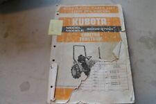 Kubota B6200 B7000 Tractor Illustrated Parts Manual