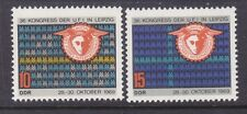 Germany DDR 1147-48 MNH OG 1969 UFI Congress at Leipzig Set Very Fine