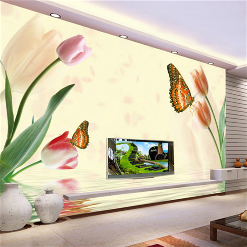 3D Tulip Flower Water 883 Wallpaper Mural Paper Wall Print Wallpaper Murals UK