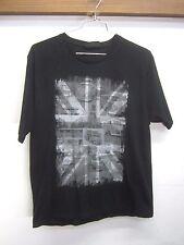 vtg Peter Storm T-Shirt black cotton VW Westphalia minibus British flag sz XL